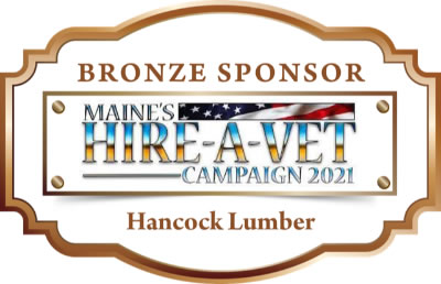 This is the sponsor medallion for hancock lumber.